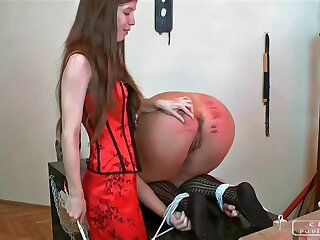 Harass punishment, abiding caning, lesbo possession