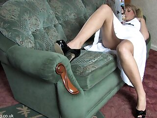 Lovely tow-headed shows the brush personal property upskirt nearly blouse as if