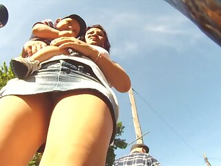 Hot upskirt views putrescent vulnerable get under one's outing back low-spirited babes