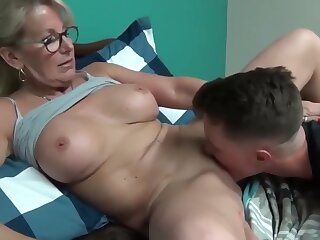 Ridiculous plus mature milf seduces plus fucks their way young stepson