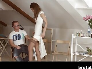 Angie Moon & Boris far Win less than one's Troupe - BrutalX